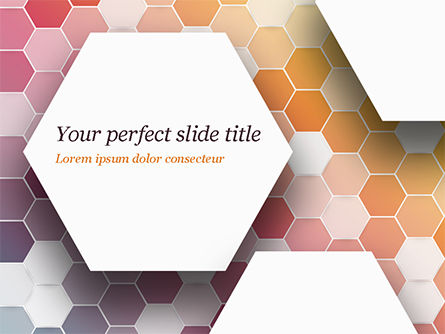 Abstract Colorful Honeycombs PowerPoint Template, 15032, Abstract/Textures — PoweredTemplate.com