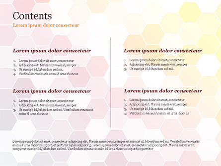Abstract Colorful Honeycombs PowerPoint Template, Slide 2, 15032, Abstract/Textures — PoweredTemplate.com