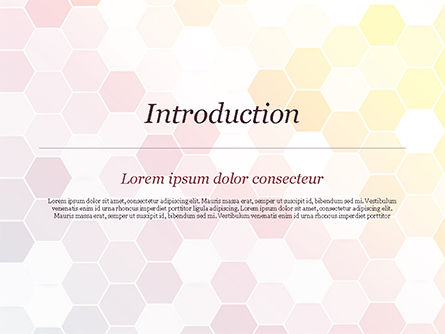Abstract Colorful Honeycombs PowerPoint Template, Slide 3, 15032, Abstract/Textures — PoweredTemplate.com
