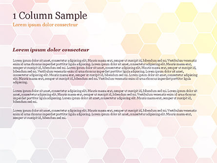 Abstract Colorful Honeycombs PowerPoint Template, Slide 4, 15032, Abstract/Textures — PoweredTemplate.com