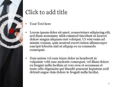 Businessman Pressing on Target Goal PowerPoint Template, Slide 3, 15034, Business Concepts — PoweredTemplate.com