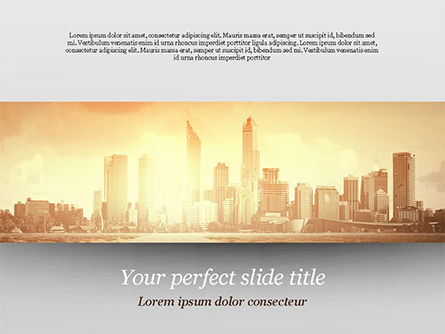 Construction: City Skyline Photo PowerPoint Template #15035