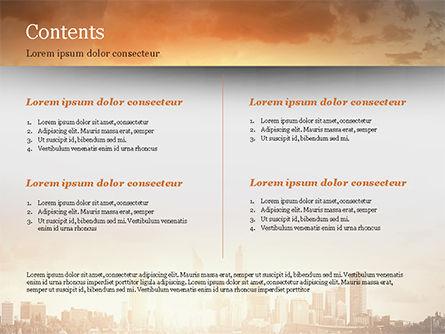 City Skyline Photo PowerPoint Template, Slide 2, 15035, Construction — PoweredTemplate.com
