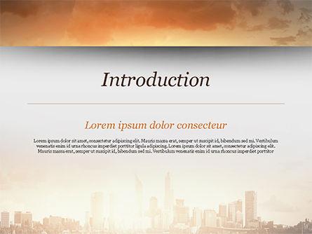 City Skyline Photo PowerPoint Template, Slide 3, 15035, Construction — PoweredTemplate.com