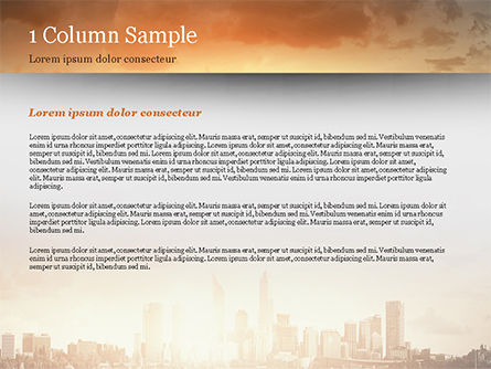 City Skyline Photo PowerPoint Template, Slide 4, 15035, Construction — PoweredTemplate.com