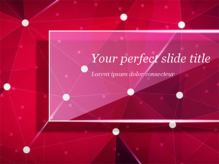 Connected Dots on Red Background PowerPoint Template, 15036, Abstract/Textures — PoweredTemplate.com