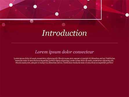 Connected Dots on Red Background PowerPoint Template, Slide 3, 15036, Abstract/Textures — PoweredTemplate.com