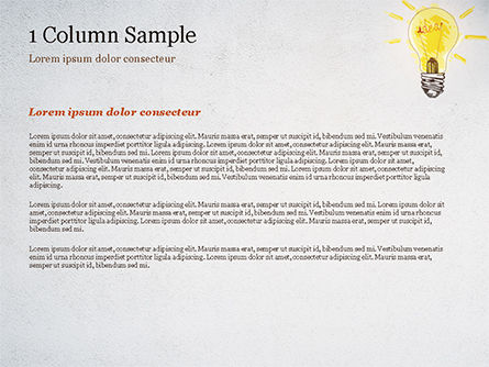 Man with Drawn Yellow Light Bulb PowerPoint Template, Slide 4, 15037, Business Concepts — PoweredTemplate.com