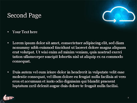 Concept of Cloud Service PowerPoint Template, Slide 2, 15038, Technology and Science — PoweredTemplate.com