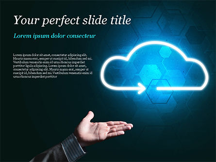 Technology and Science: Concept of Cloud Service PowerPoint Template #15038