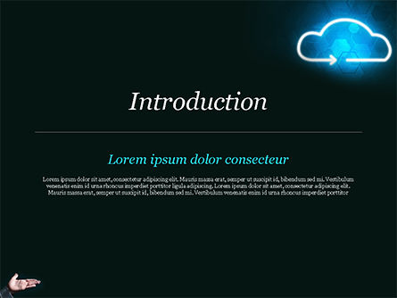 Concept of Cloud Service PowerPoint Template, Slide 3, 15038, Technology and Science — PoweredTemplate.com