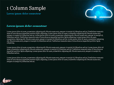 Concept of Cloud Service PowerPoint Template, Slide 4, 15038, Technology and Science — PoweredTemplate.com