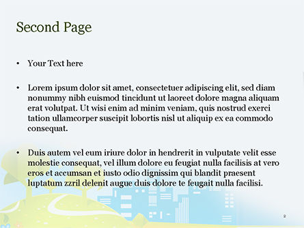 Eco Car PowerPoint Template, Slide 2, 15039, Cars and Transportation — PoweredTemplate.com