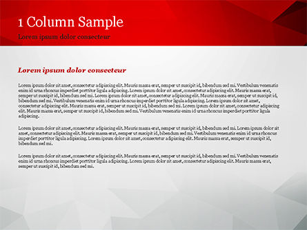 Grey Triangles with Red Line PowerPoint Template, Slide 4, 15040, Abstract/Textures — PoweredTemplate.com