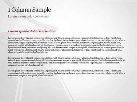 Uphill Winding Road PowerPoint Template, Slide 4, 15043, 3D — PoweredTemplate.com