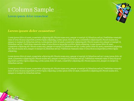 School Supplies on Green Background PowerPoint Template, Slide 4, 15044, Education & Training — PoweredTemplate.com