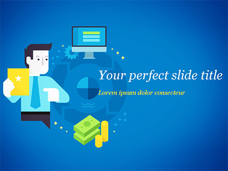 Business Concepts: Performance-Based Marketing Concept PowerPoint Template #15046