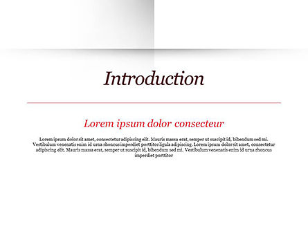 Open Album with White Sheets PowerPoint Template, Slide 3, 15047, Education & Training — PoweredTemplate.com
