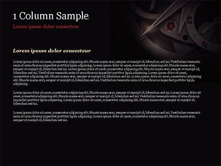 Vintage Watch Mechanism PowerPoint Template, Slide 4, 15048, Business Concepts — PoweredTemplate.com