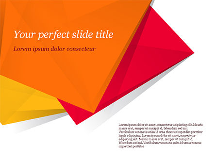 Three Bright Abstract Polygons PowerPoint Template, 15049, Abstract/Textures — PoweredTemplate.com
