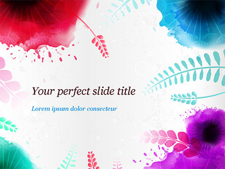 Holiday/Special Occasion: Watercolor Flowers PowerPoint Template #15052