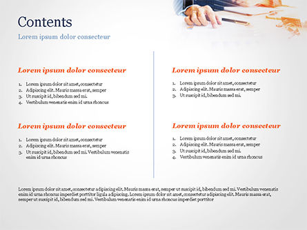 Businessman Analyzing Charts PowerPoint Template, Slide 2, 15053, Business Concepts — PoweredTemplate.com