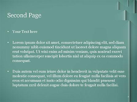 Teal Green PowerPoint Template, Slide 2, 15054, Abstract/Textures — PoweredTemplate.com