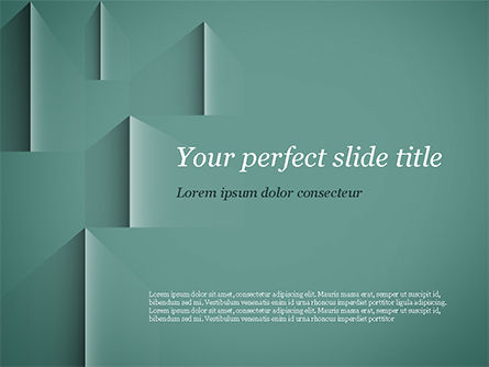 Teal Green PowerPoint Template, 15054, Abstract/Textures — PoweredTemplate.com