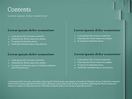 Teal Green PowerPoint Template, Slide 2, 15054, Abstract/Textures — PoweredTemplate.com