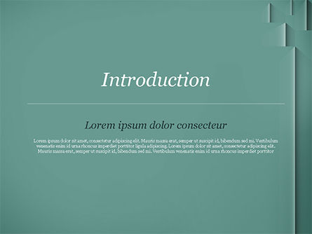 Teal Green PowerPoint Template, Slide 3, 15054, Abstract/Textures — PoweredTemplate.com