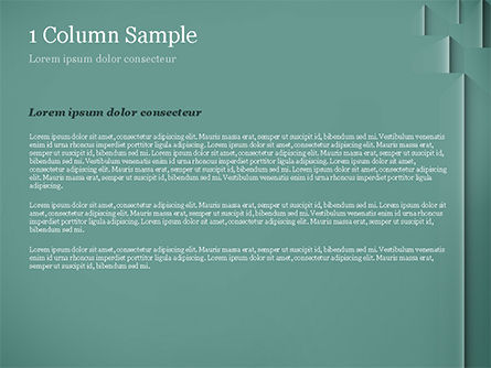 Teal Green PowerPoint Template, Slide 4, 15054, Abstract/Textures — PoweredTemplate.com
