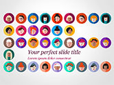 People: Avatar Icons in Flat Design PowerPoint Template #15055