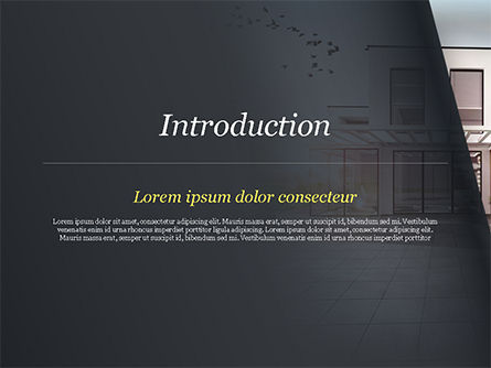 Stylish Modern Home PowerPoint Template, Slide 3, 15056, Construction — PoweredTemplate.com