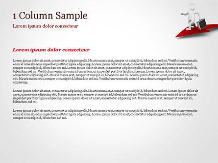 3D Businessman Runs on the Red Arrow PowerPoint Template, Slide 4, 15057, 3D — PoweredTemplate.com