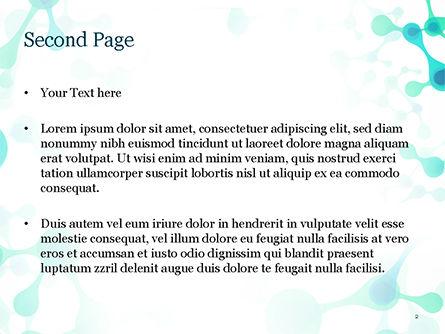 Abstract Green Molecular Structure PowerPoint Template, Slide 2, 15058, Abstract/Textures — PoweredTemplate.com