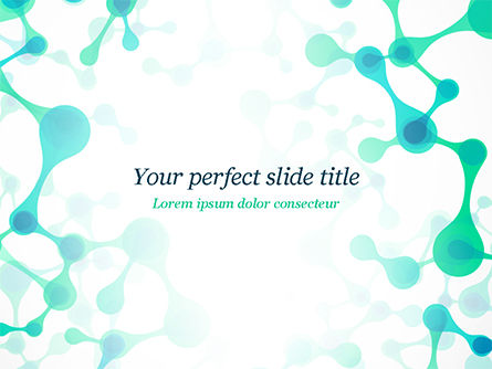 Abstract/Textures: Abstract Green Molecular Structure PowerPoint Template #15058