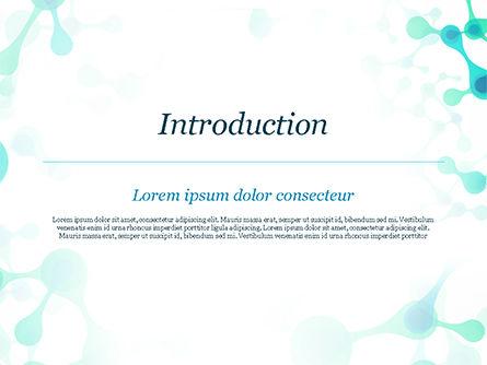 Abstract Green Molecular Structure PowerPoint Template, Slide 3, 15058, Abstract/Textures — PoweredTemplate.com
