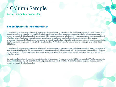 Abstract Green Molecular Structure PowerPoint Template, Slide 4, 15058, Abstract/Textures — PoweredTemplate.com