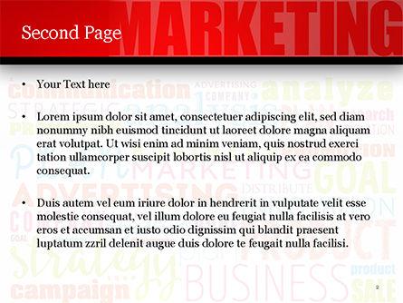 Marketing Strategy Word Cloud PowerPoint Template, Slide 2, 15059, Careers/Industry — PoweredTemplate.com