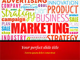 Careers/Industry: Marketing Strategy Word Cloud PowerPoint Template #15059