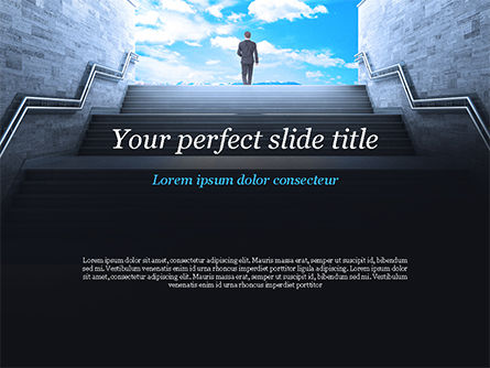 Success Concept PowerPoint Template, 15060, Business Concepts — PoweredTemplate.com