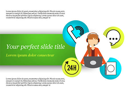 Careers/Industry: Call Center Agent PowerPoint Template #15061