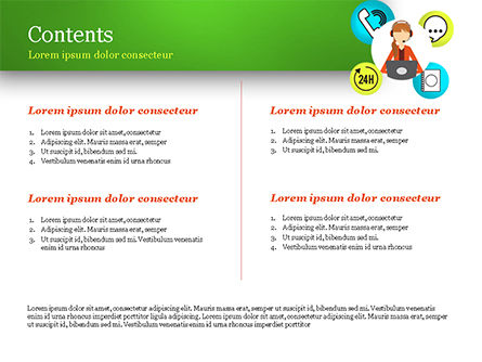 Call Center Agent PowerPoint Template, Slide 2, 15061, Careers/Industry — PoweredTemplate.com