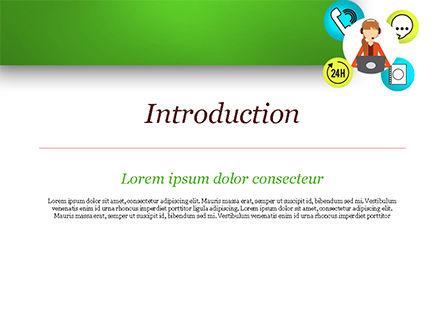 Call Center Agent PowerPoint Template, Slide 3, 15061, Careers/Industry — PoweredTemplate.com