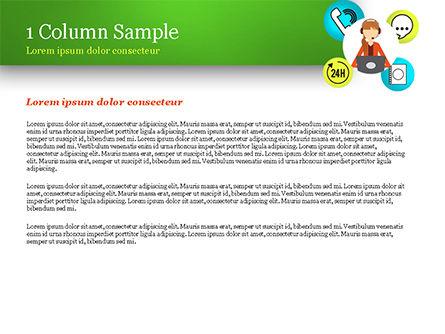 Call Center Agent PowerPoint Template, Slide 4, 15061, Careers/Industry — PoweredTemplate.com