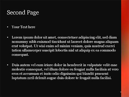 Orange Line PowerPoint Template, Slide 2, 15062, Abstract/Textures — PoweredTemplate.com