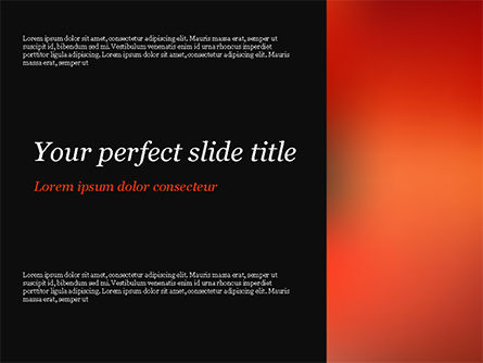 Orange Line PowerPoint Template, 15062, Abstract/Textures — PoweredTemplate.com