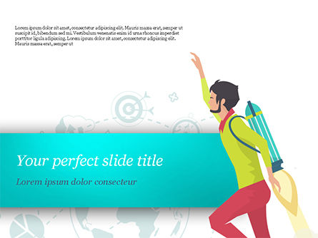 Flight to Profit PowerPoint Template, 15066, Business Concepts — PoweredTemplate.com