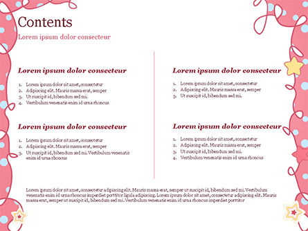 Pink Greeting Card PowerPoint Template, Slide 2, 15067, Holiday/Special Occasion — PoweredTemplate.com