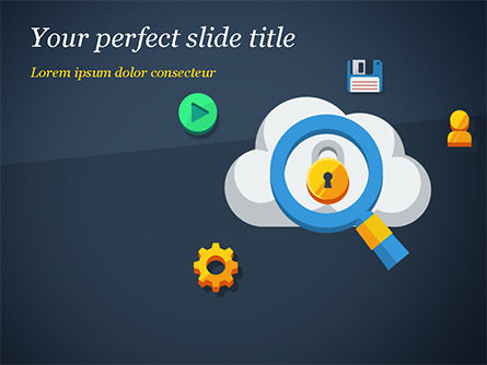 Cloud Computing Security PowerPoint Template, 15068, Technology and Science — PoweredTemplate.com